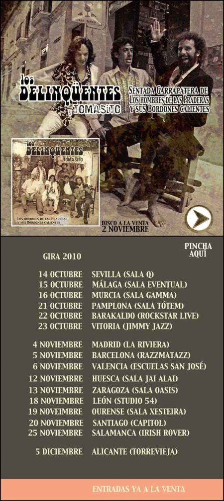 Nuevo disco y gira de los Delinqüentes con Tomasito